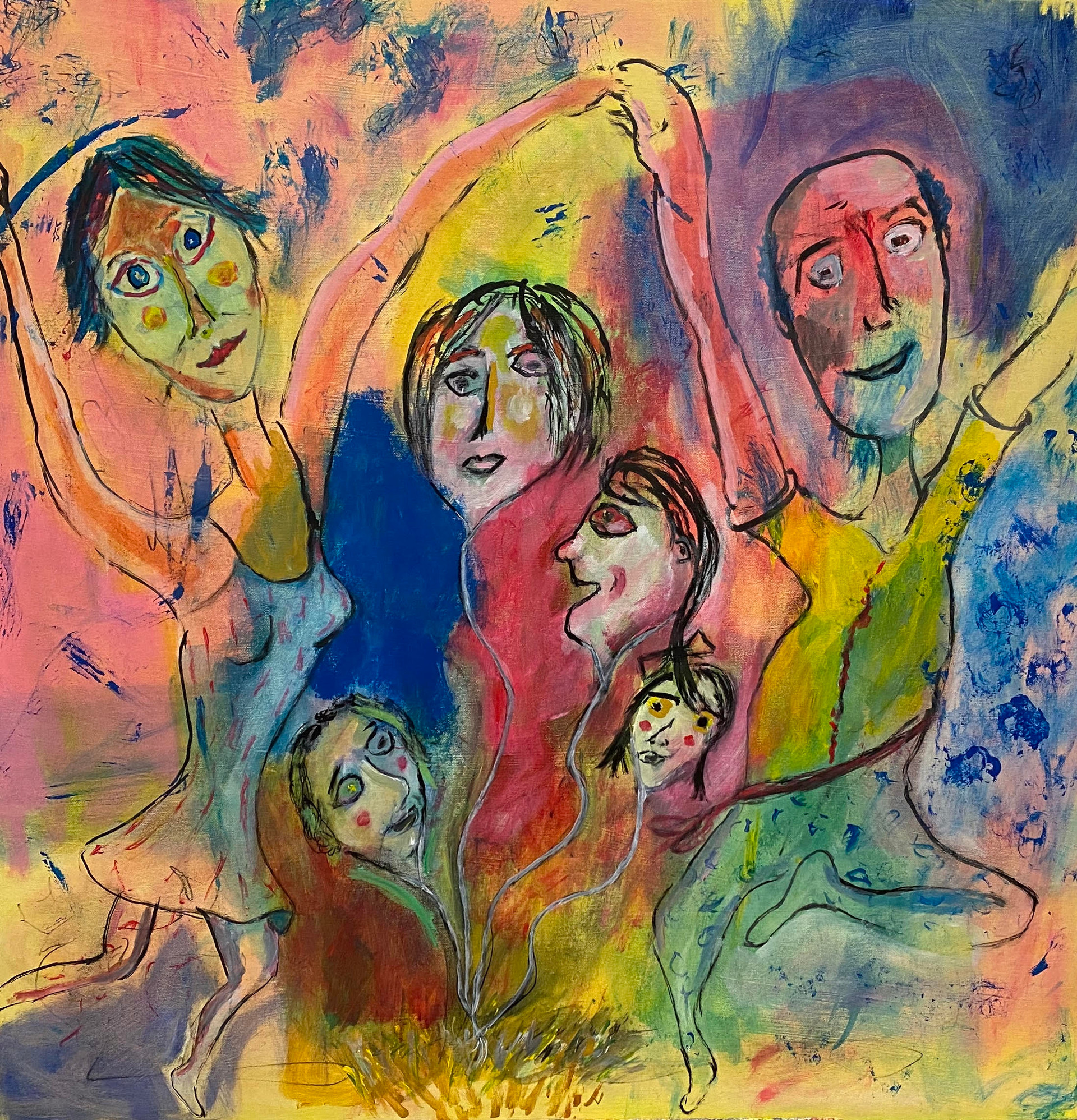 Couple with Four Girls