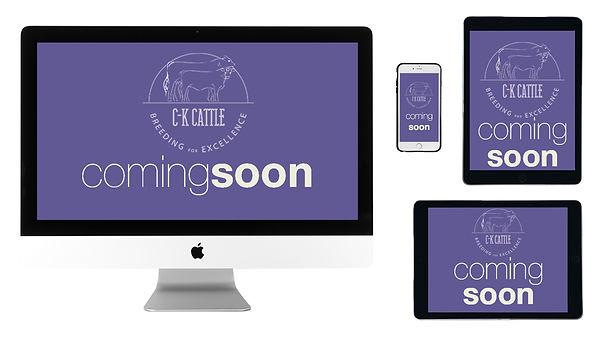 Coming Soon Website mockup