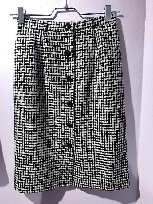 Vintage Skirt Pied-de-Poule