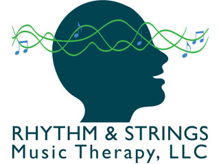 new logo for Rhythm & Strings Music Therapy!