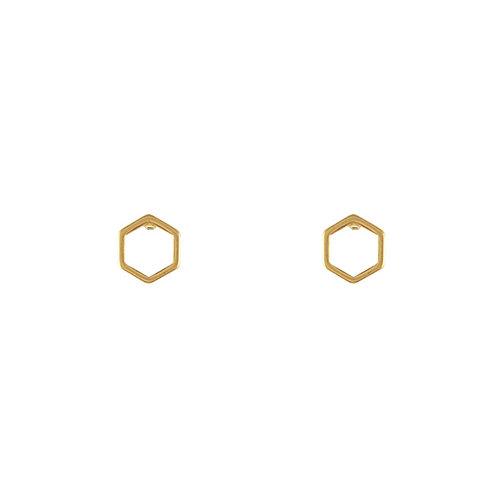 Boucle d'oreilles hexagones | Lost & Faune