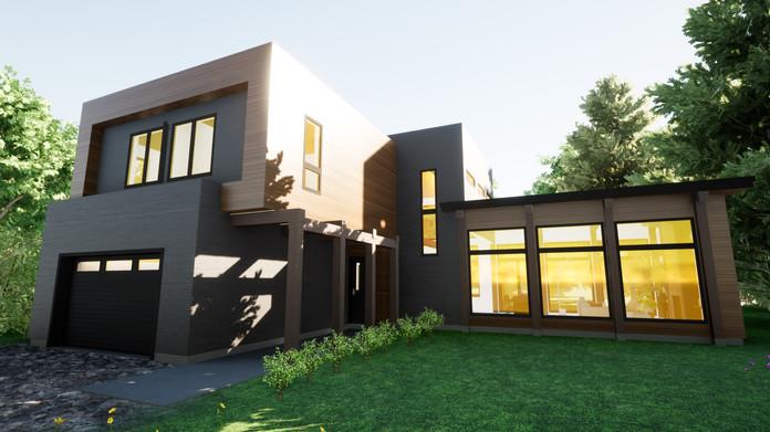 La Cubique : une maison lumineuse réalisée avec un plan sur mesure