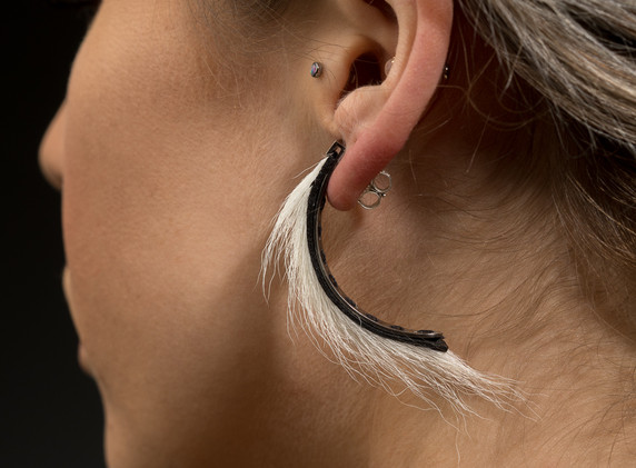 Swoop Earrings (White)