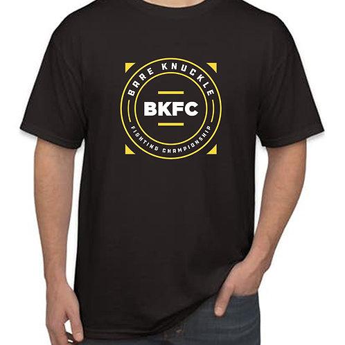 """BKFC """"Squared Circle"""" Logo T-Shirt - Black/Yellow/White"""