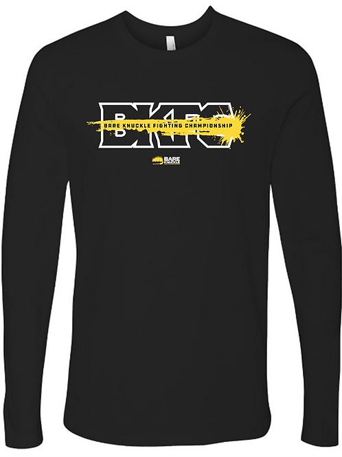 Bare Knuckle FC Splash Logo Long Sleeve Crew T-Shirt