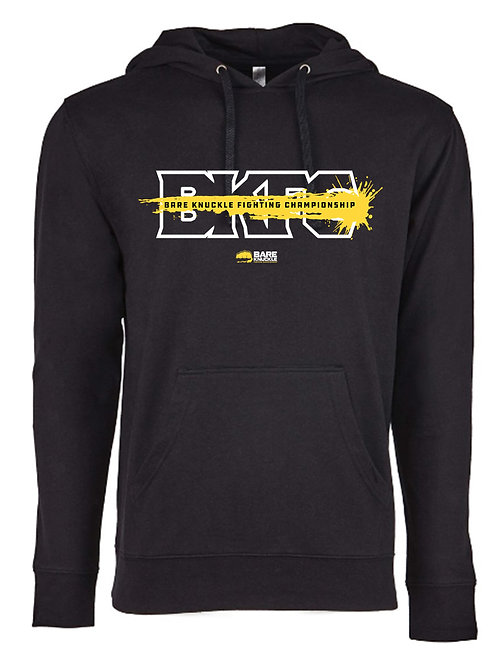 Bare Knuckle FC Splash Logo French Terry Hoodie - Black/Yellow/White