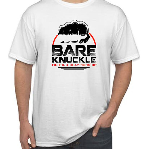 Bare Knuckle FC Circle Logo Shirt - White/Black/Red
