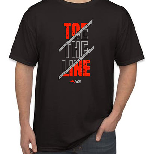 """Toe the Line"" T-shirt Black/Red/Gray"