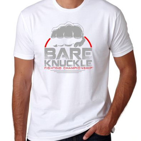 Bare Knuckle FC Circle Logo Shirt - White/Gray/Red