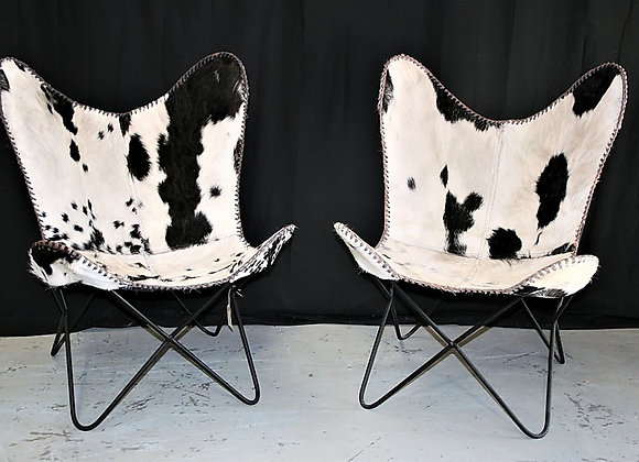 Cowhide W chairs