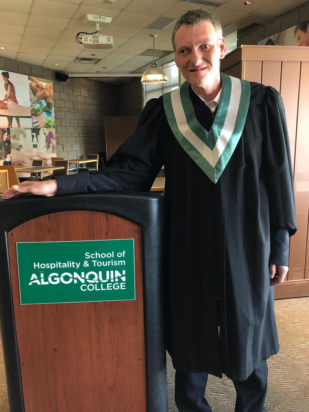 Richard at his graduation
