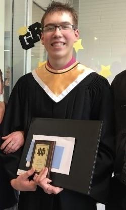 Noah at his graduation