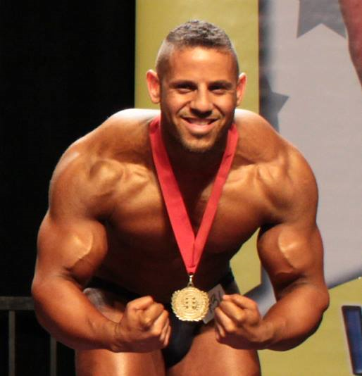 On stage at the INBA Natural Olympia 2013 (San Diego - USA)