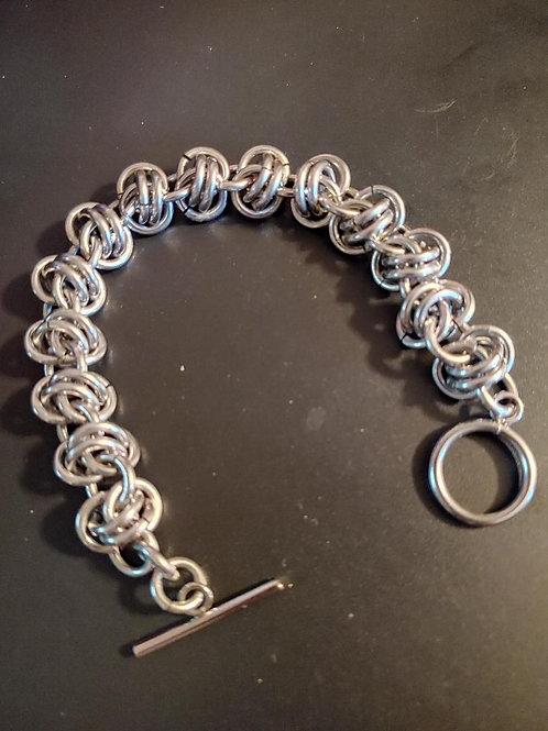 Stainless Barrel Weave Bracelet