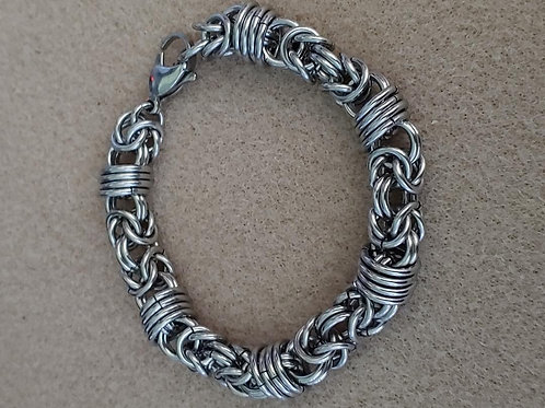 Stainless Byzantine/Orbital Hybrid: Bracelet
