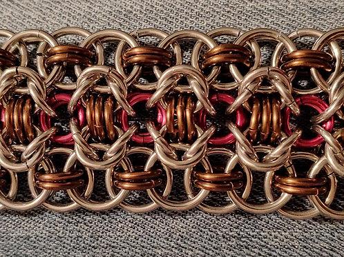 Stainless Steel & Copper Rondo a la Byzantine Bracelet