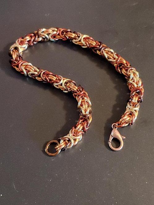 Copper Byzantine Rope Bracelet