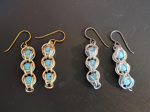 4-in-2 Captured Swarovski® Pearl Earrings