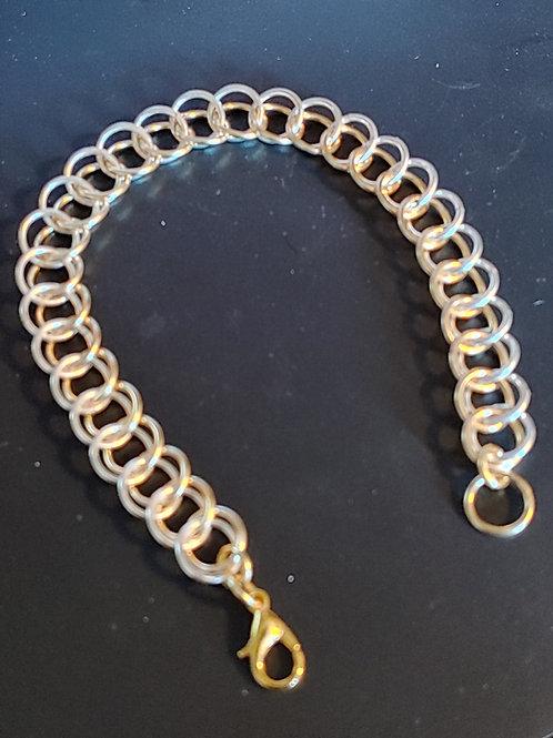 Silver & Gold Colored Copper Half-Persian 3-in-1 Bracelet