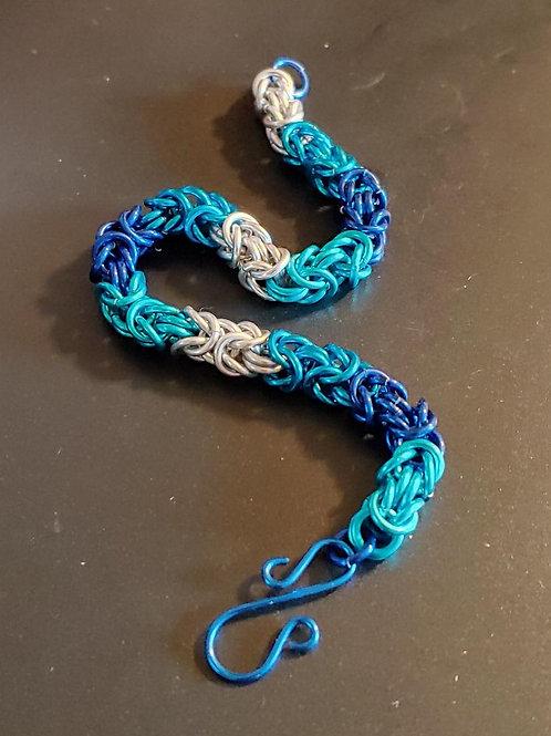 Blue Byzantine Rope Bracelet