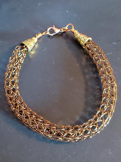 Medium Width Viking Knit Bracelet