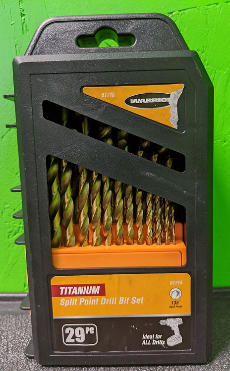 Warrior Titanium Split Point Drill Bit Set 29pc - Cedar City