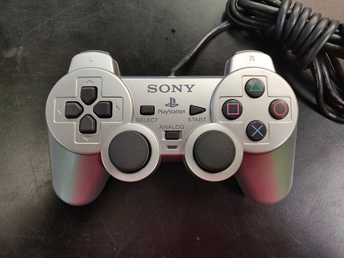 Sony - PS2 - Sony Playstation 2 Wired Silver Controller - Cedar City