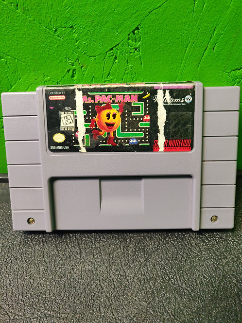 Nintendo - SNES - Game Ms. Pac-Man - Cedar City