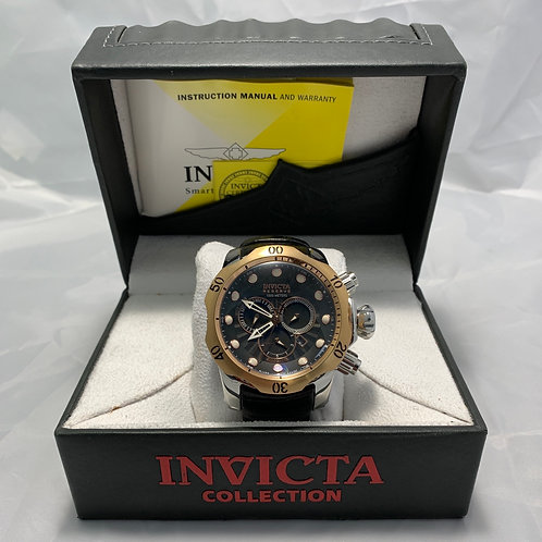 Men's Invicta 0360 Reserve - Black Leather Band in Case - St. George Boulevard