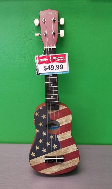 Diamond Ukulele American Flag - DU-131 - St. George