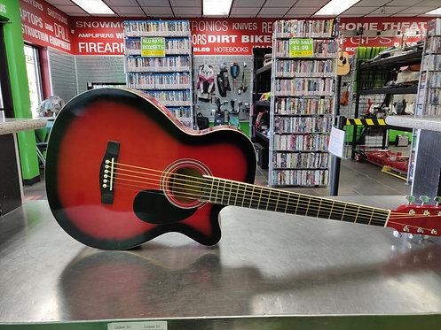 Main Street - MAS38TR - New Acoustic Guitar Red Cutaway - Cedar City