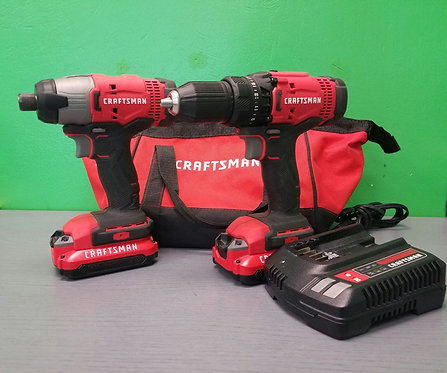 Craftsman 20v Impact & Driver 2 Battery with Charger - St. George
