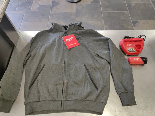 Milwaukee 302G Heated Zip Up Hoodie with Battery and Charger