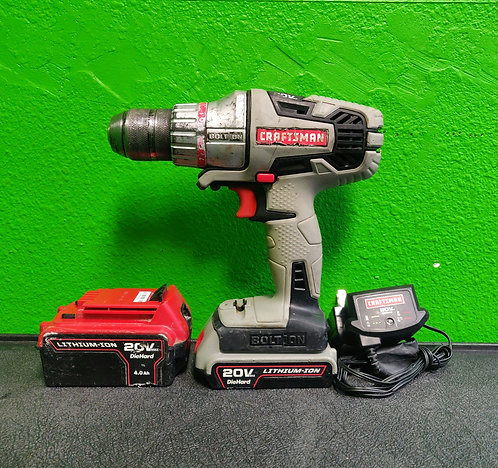 Craftsman 20v Drill with Charger and 2 Batteries