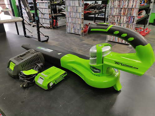 Greenworks - 24352 - Dual Speed Blower 1 24V Battery and Charger - Cedar City