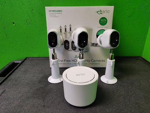 Arlo - VMS3330W - Security System W/ Base & 3 HD Cameras - Cedar City