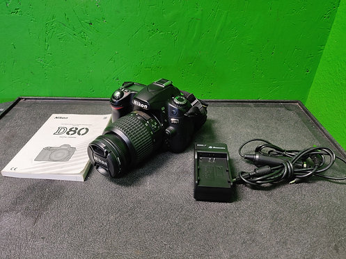 Nikon D80 10.2MP DLSR Digital Camera with 18-55mm Lens, Battery, and Charger