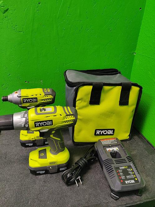 Ryobi Combo Kit 18V Lithium 2 Batteries Charger in Bag Cedar City