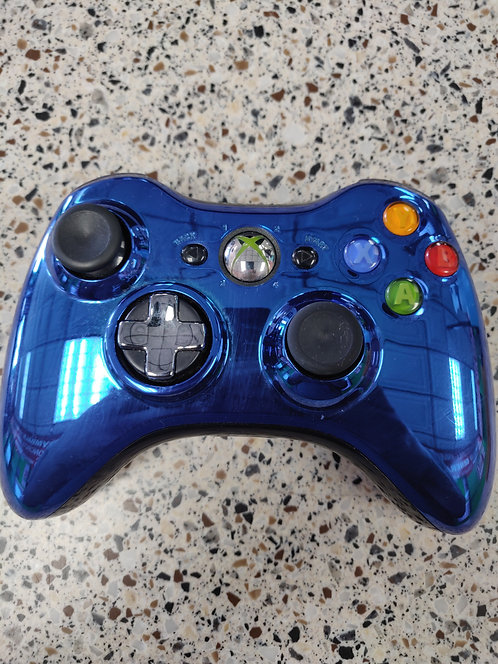 Microsoft - Xbox 360 - Xbox 360 Controller Metallic Blue Wireless - Cedar City