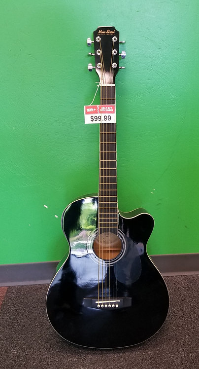 Main Street 6 String Acoustic Guitar - MAS38BK - St. George
