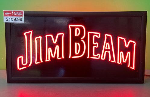 Worden Glass Jim Bean Neon Sign - St. George