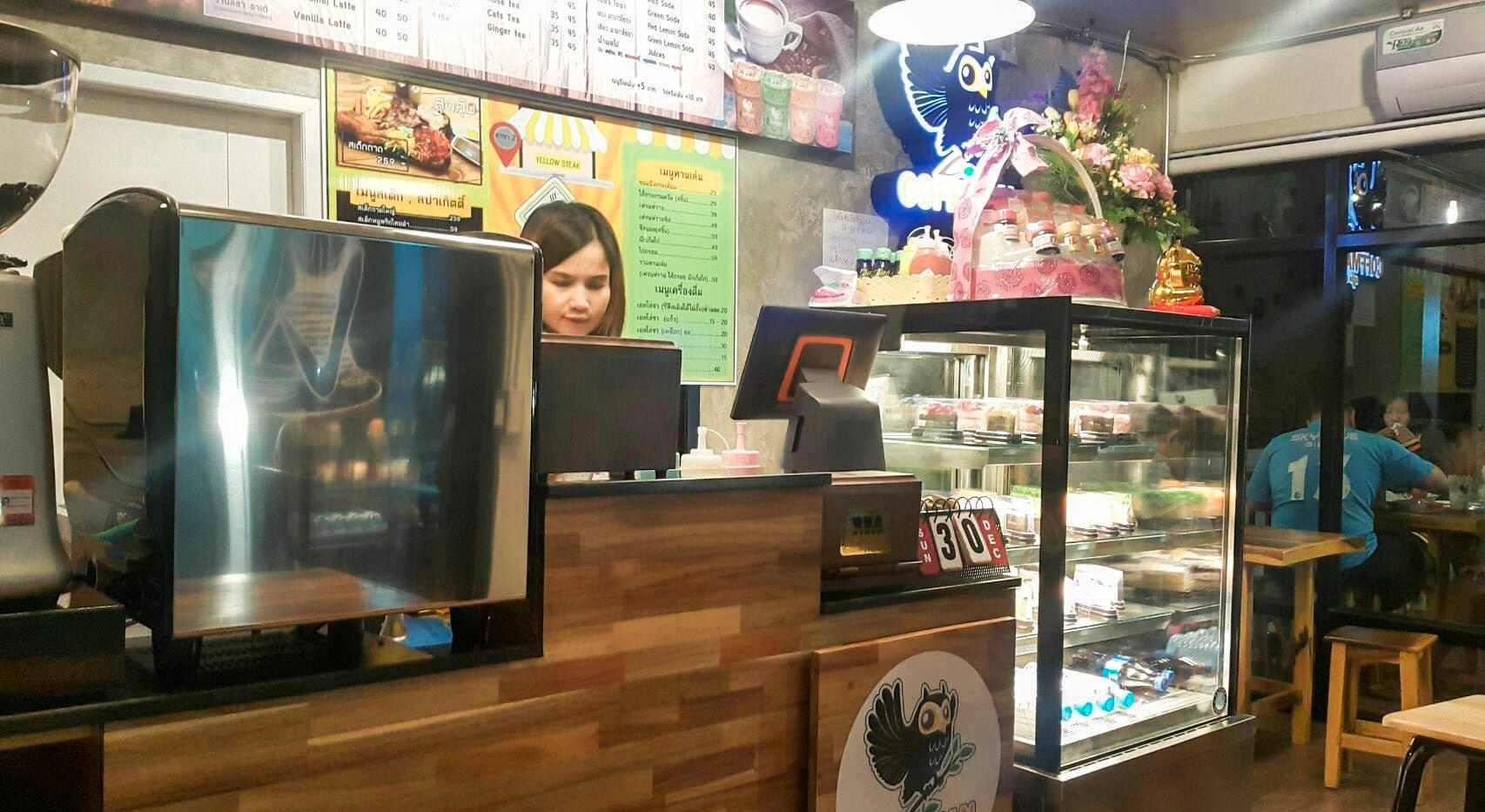 ด้านหน้าจุดสั่งกาแฟร้านกาแฟคอฟแมนศรีสะเกษ