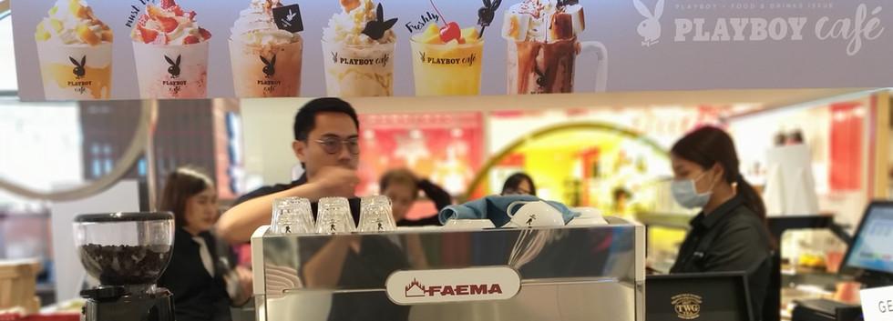 เครื่องชงกาแฟสด Faema E98 ใน Playboy Cafe