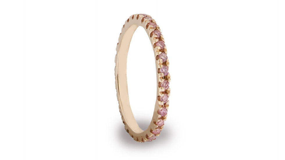 VERETTA IN ORO 18 KT CON DIAMANTI PINK