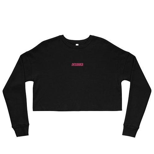 Desanka Cropped Embroidered Sweatshirt