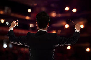 Conductor on Stage