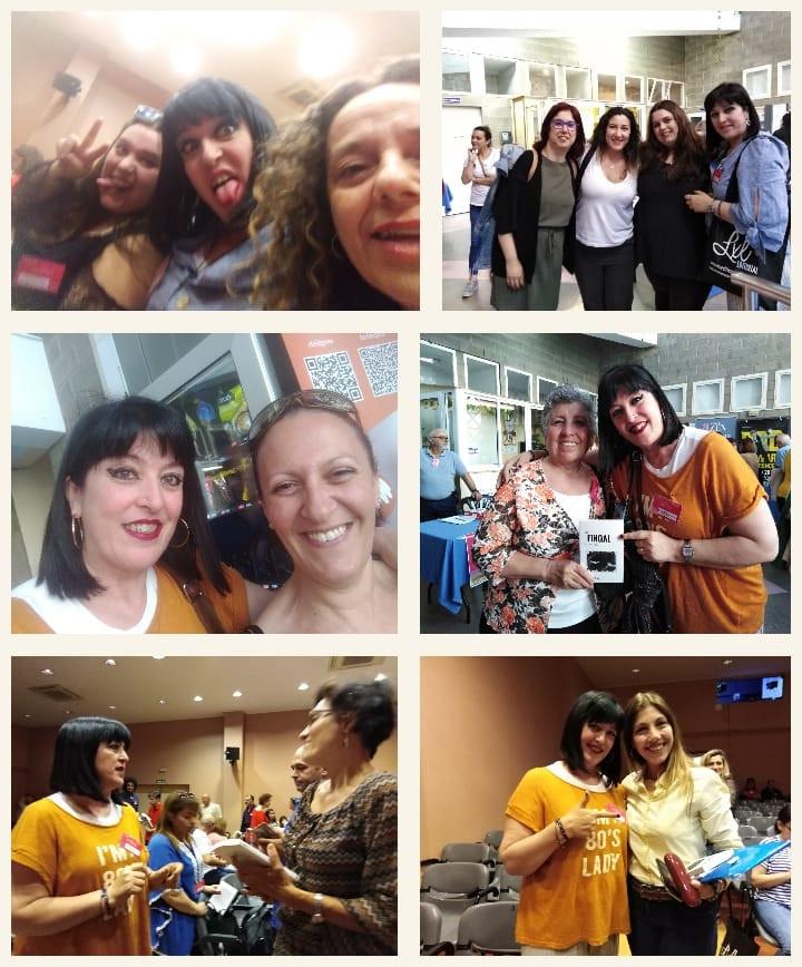 Me ha encantado reencotrarme con buenas amigas y geniales compañeras, conocer lectores, firmar libros, conocer nuevos y magníficos compañeros.