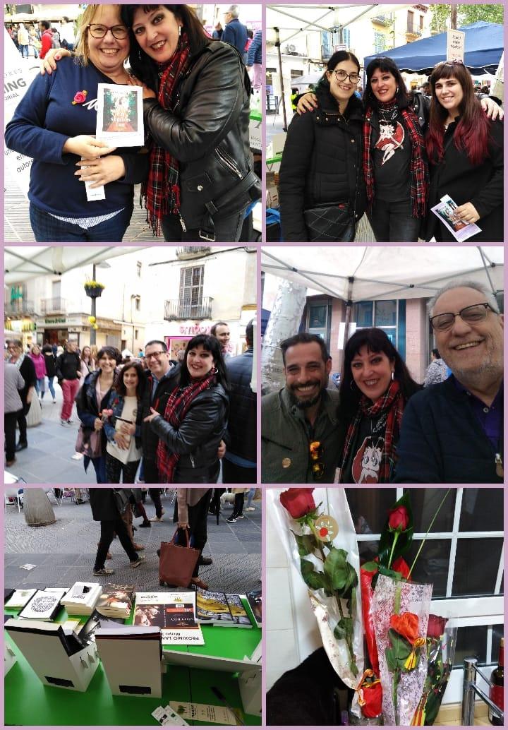 Pero Sant Jordi continuó por la tarde en la Rambla de Vilanova i la Geltrú, con la editorial de Juan Re Crivello, Fleming. Disfrutar a su lado junto a otros escritores como Lucas Corso y Esteban Suarez Miceli es decir poco, y fue muy emocionante que vinieran a verme queridos amigos. Las rosas de mis amados llegaron para darme el mejor abrazo de todos!!!! 🌹🌹🌹🌹❤️❤️❤️❤️ ¡Gracias por este Sant Jordi inolvidable! ¡Uno de los mejores que he vivido!🐲🌹📚✍️❤️❤️❤️❤️ En Fleming editorial #miSantJordi #Santordi19🌹 #diaprecioso#aldiasiguiente #resacaliteraria #230419 — con Esther Bruna Martínez, Familia Solsona Castelló, Manuel Solsona Oliveros, Esteban Suarez, Grafton Helmets, Laia Marsal, Silvana, Lleó Sostenible, Cèdric, Míriam, Enver y Juan Re Crivello en Oficina BBVA - Rambla Principal 21.