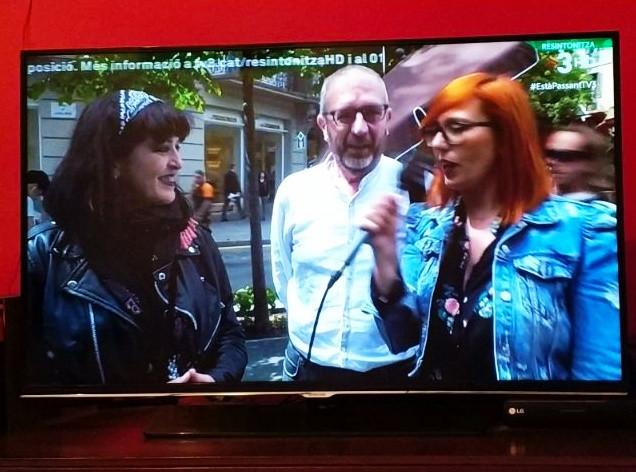 En TV3. Nos pillaron!