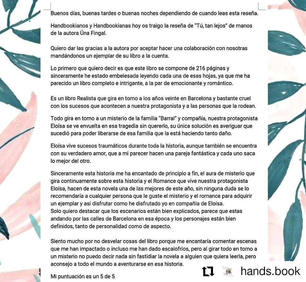 La reseña en Instagram